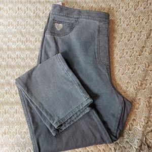 Dream Jeannes by Quacker Factory L gry jean pants